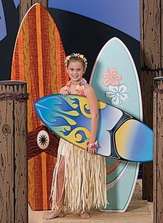 Surfs Up! Our Surfboard Standees and Surf's Up Pilings are a great addition to any luau, surf or beach party. Our free-standing surfboard standees come in three great sizes.