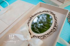 Mirror Wedding Invitation by RigaWedding on Etsy