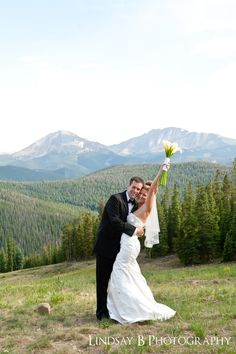 Clear skies, your something Blue! Venue: Anticipation at Timber Ridge, Keystone, CO