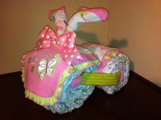 Diaper Tricycle/ Pretty Butterfly by KeepsakeCakes on Etsy, $45.00