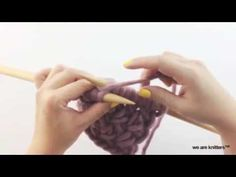 In this tutorial, we want to show you how to knit Cross stitch using knitting Chunky wool and needles. Wanna learn new knitting stitches? Knitting Basics, Knitting Help, How To Start Knitting, Knitting Kits, Knitting Videos, Learn To Crochet, Loom Knitting, Knitting Stitches, Knitting Projects