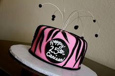 CakeWalk Designs: Zebra Birthday Cake Zebra Birthday Cakes, 25th Birthday, Design, 25 Years Old, Design Comics, 25th Anniversary