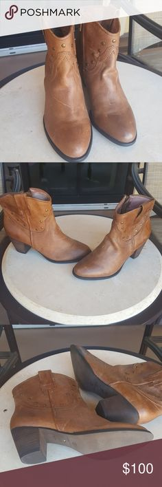 Corso Como Boots Leather, Light Carmel Brown color. Gently used. These are gorgeous ankle boots. Corso Como Shoes Ankle Boots & Booties
