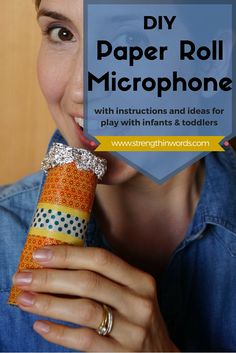 DIY Paper Roll Microphone Autumn Activities For Kids, Printable Activities For Kids, Music Activities, Speech Therapy Activities, Preschool Activities, Kids Birthday Crafts, Call And Response, Banana Art, Homemade Instruments