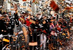 Fans cheer during San Francisco Giants' World Series Parade on Market Street in San Francisco. on Friday, October 31, 2014. Photo: Scott Strazzante / The Chronicle / ONLINE_YES