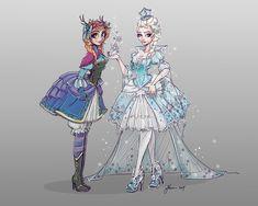 Frozen Characters Lolita Style by NoFlutter on deviantART