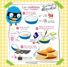 Easy Cake Recipes - New ideas Easy Cake Recipes, Easy Desserts, Healthy Toddler Breakfast, Madeleine Recipe, Organic Cooking, Cake Factory, Baking With Kids, French Food, Food Illustrations