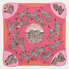 Les Zebres - Pink, Rose and Salmon