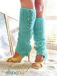 It may be because I love to rock the look, but I think legwarmers with heels is super hot!  Best for a boudoir or boudoir-styled maternity session.