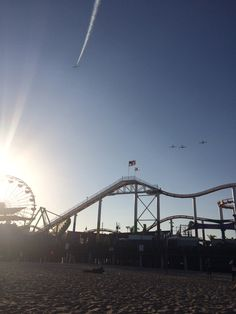 Santa Monica Pier fly over to commemorate the forces