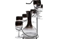 Faux-Mercury Glassware Set, Set of 6  $149.00