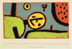 Clown in bett, 1937 / Paul Klee