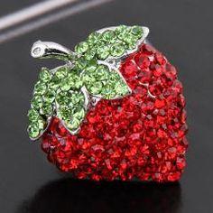 Strawberry Rhinestone Ring