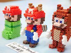 3D perlerbeads アイロンビーズ Mario 尻尾マリオ - 3DPerlerBeadsお手軽頑固な立体アイロンビーズ