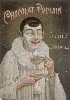 chocolat-poulain-goutez-et-comparez-powdered-face-french-stamp