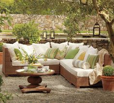 Here's the outdoor furniture to match that awesome table I showed up close earlier