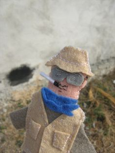 Hunter S. Thompson Felt Finger Puppet