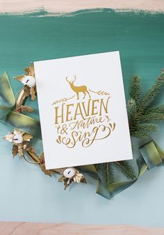 A modern hand-lettering pioneer, Lindsay Letters Studio offers foil ART PRINTS and heirloom-quality CANVASES with meaningful phrases and abstract art. Christmas Is Coming, Christmas Holidays, Christmas Cards, Christmas Decorations, Foil Art, Joy To The World, Country Christmas, Hand Lettering, Merry