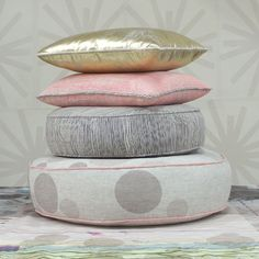 cushions in exquisite metallics, fluorescents and sketchy graphics | Spacecraft