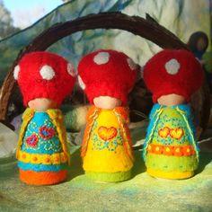 aangekleedde popjes voor de seizoenstafel