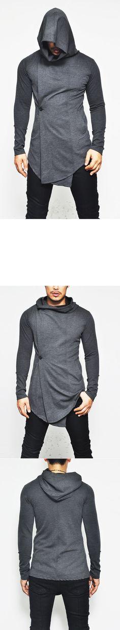 Avant-Garde Rick Button Jersey Hood-Coat 61 - GUYLOOK