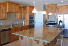 New Venetian Gold Granite Kitchen Countertops Accent Interiors Salt Lake City