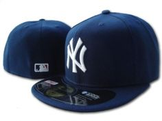 Casquette NY New York Yankees MLB 59Fifty Marine   Casquette Pas Cher  Yankees Hat 382d937b392
