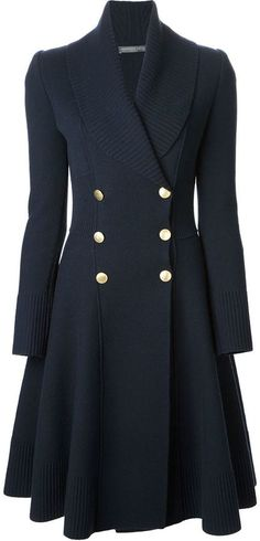 Alexander McQueen double breasted coat on shopstyle.com