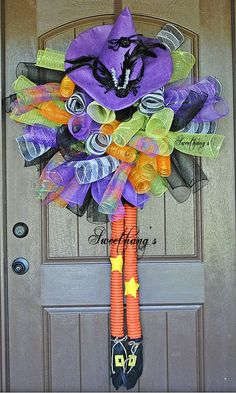 Spiral Witch Legs Wreath by Sweethangs on Etsy, $80.00