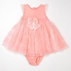 Infant Knit Baby Doll Ruffled Dress and Panty.