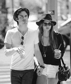 Nina dobrev and ian somerhalder <3 THEY'RE #DELENA IN VAMPIRE DIARIES AND THEY'RE #NIAN IN REAL LIFE IM CRYING