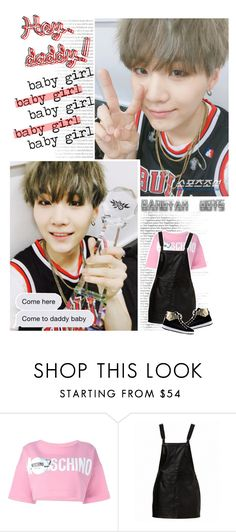 """""""Talk Room - Hey, daddy!"""" by luminoussuga ❤ liked on Polyvore featuring Moschino and Love Moschino"""
