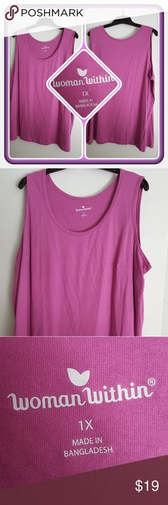 💜 NWOT Woman's Lavender Tank Size 1X 💜 Brand New Woman's Basic Tank In A Lavender Color Size 1X From Woman Within. This Is Perfect For Spring And Summer You Can Wear Alone Or Layer It Under A Blazer 🚫 PAYPAL 🚫 TRADES 🚫 OFFERS PRICE IS FIRM 💜 Woman Within Tops Tank Tops