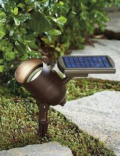 Shine a light on your favorite landcaping or the exterior of your home with the hassle-free Smart Focus Solar Spotlight; an adjustable solar light you can easily hide from view.