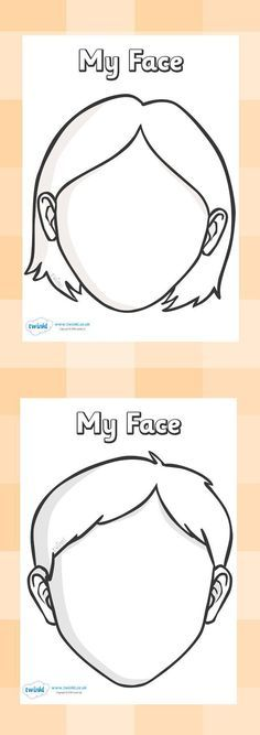Blank Face Templates with Face Features Printables school - face template printable