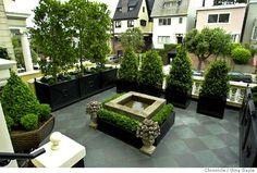 formal french rooftop garden. very miles redd