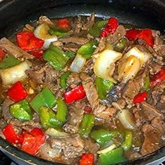 Made...it got two thumbs up! No tomatoes, added mushrooms and celery. Mom's Pepper Steak