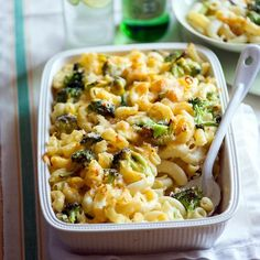 Broccoli Mac and Cheese Recipe Side Dishes with elbow macaroni, broccoli, butter, flour, onions, whole milk, chicken broth, shredded sharp cheddar cheese, grated parmesan cheese, cheese, bread crumbs