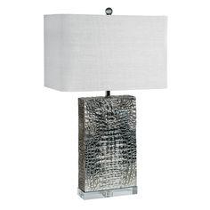 Regina Andrew Croc Plated Nickel Column Table Lamp @Zinc_Door
