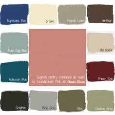 Annie Sloan Chalk Paint Palette, Annie Sloan Chalk Paint Colors, Annie Sloan Paints, Basement Paint Colors, Basement Painting, Pink Color Schemes, Green Colour Palette, Pink Furniture, Chalk Paint Furniture