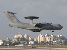 IAF Beriev A-50EI Mainstay AWACS aircraft based on the Ilyushin Il-76 transport with Aviadvigatel PS-90A-76 engines, with Israeli EL/W-2090 radar made for the Indian Air Force.