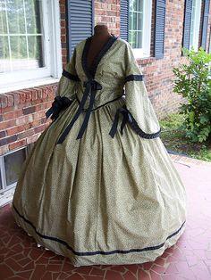 cotton calico civil war dress