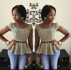 Today i get something for the beautiful ladies as usual and na Beautiful Ankara Peplum Tops Styles And Design wey dey trend for fashion industry African Fashion Ankara, Latest African Fashion Dresses, African Dresses For Women, African Print Dresses, African Print Fashion, Africa Fashion, African Attire, African Women, African Blouses
