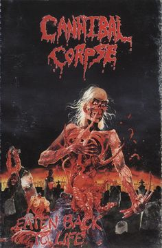 Cannibal Corpse - Eaten Back to Life, tape (1997, Russia)
