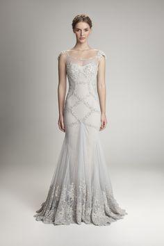 Silver embellished dress