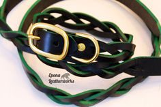 Get that pup noticed with our Highlight Collar & Leash Combo Special! This collar is highlighted with an accent shade of green. Set $100.00 Collar And Leash, Collars, Leather Collar, Shades Of Green, Shank, Highlight, Pup, Braids, Hardware