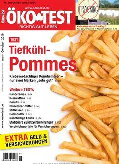 Test - Tiefkühl-#Pommes. Gefunden in: ÖKO-TEST Magazin - epaper, Nr. 10/2016