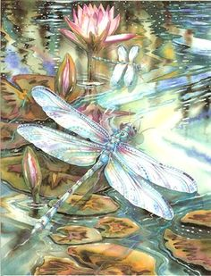 Dragonfly Spirit - Leanin' Tree Blank Note Cards from Horsekeeping.com