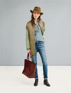Madewell's Fall 2014 Lookbook.  Jacket and hat love.