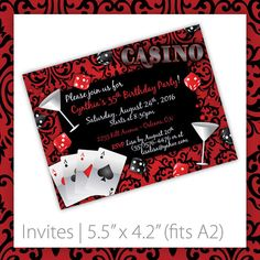 Hey, I found this really awesome Etsy listing at https://www.etsy.com/listing/123031569/casino-party-invitations-printable